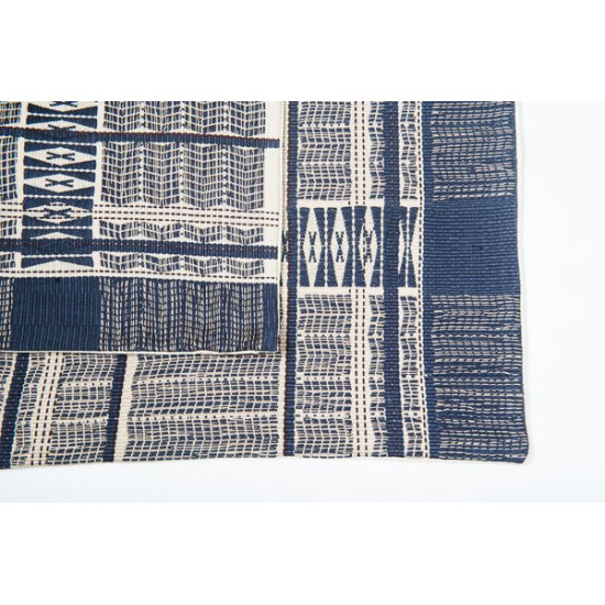 Naga Print Cushion Covers (Navy & Cream)