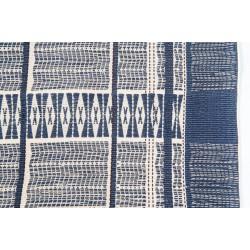 Naga Print Cushion Covers (Navy & Cream)