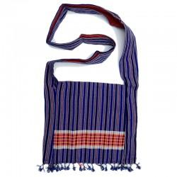 Assamese Tribal Striped Jhola, Blue