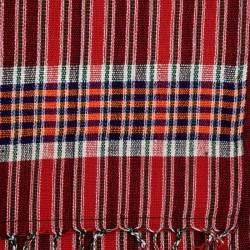 Assamese Tribal Striped Jhola, Red