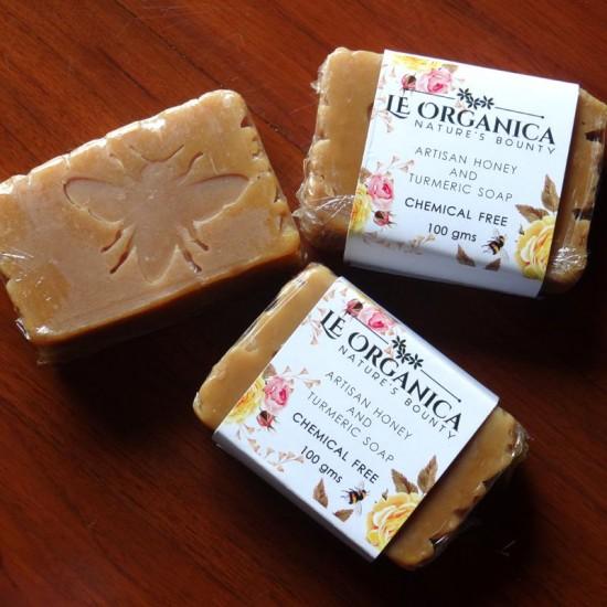 Le Organica Turmeric & Honey Soap