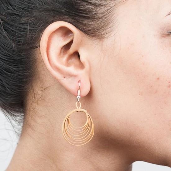 MBF Bamboo Swirl Hoop Earrings