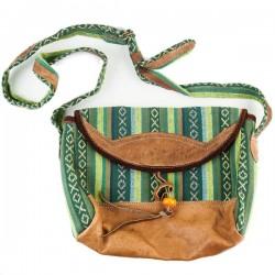 Sikkim Sling Bag & Wallet Set, Green