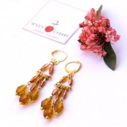 Crystal Gold Chandelier Earrings