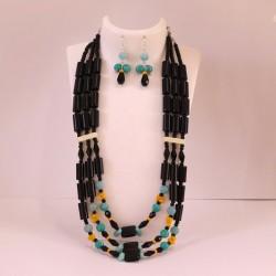 Triple Strand Beaded Rigitok Necklace Set