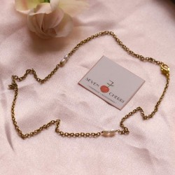 Gold Necklace With Freshwater Pearls